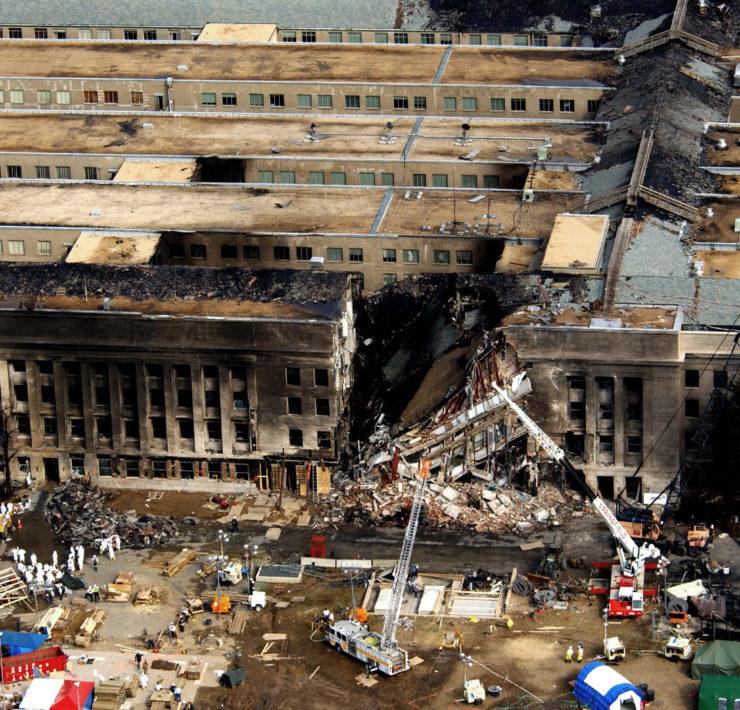 Aanslag tijdens 9/11 op het Pentagon in Washington DC