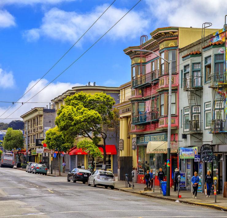 De wijk Haight Ashbury in San Francisco
