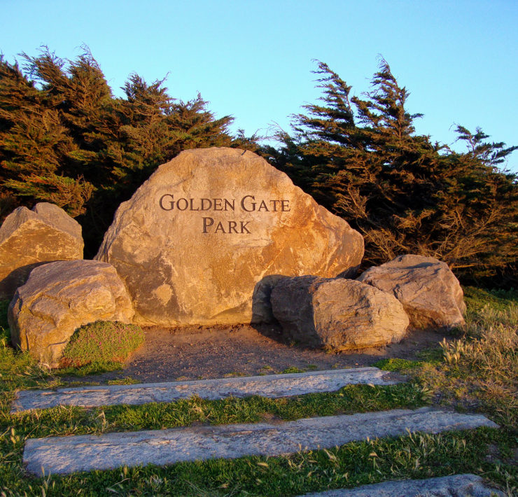 De ingang van Golden Gate Park in San Francisco