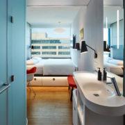 Een hotelkamer in het citizenM hotel in Washington DC