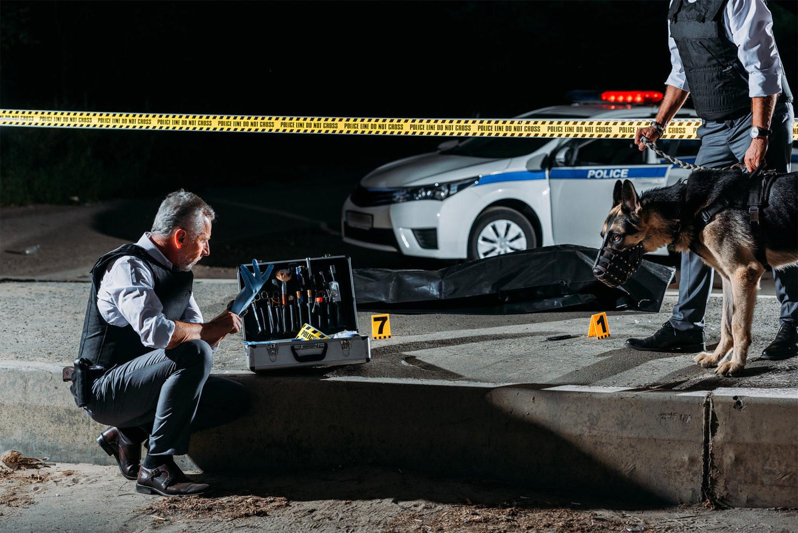 Een 'crime scene' of plaats delict in Amerika