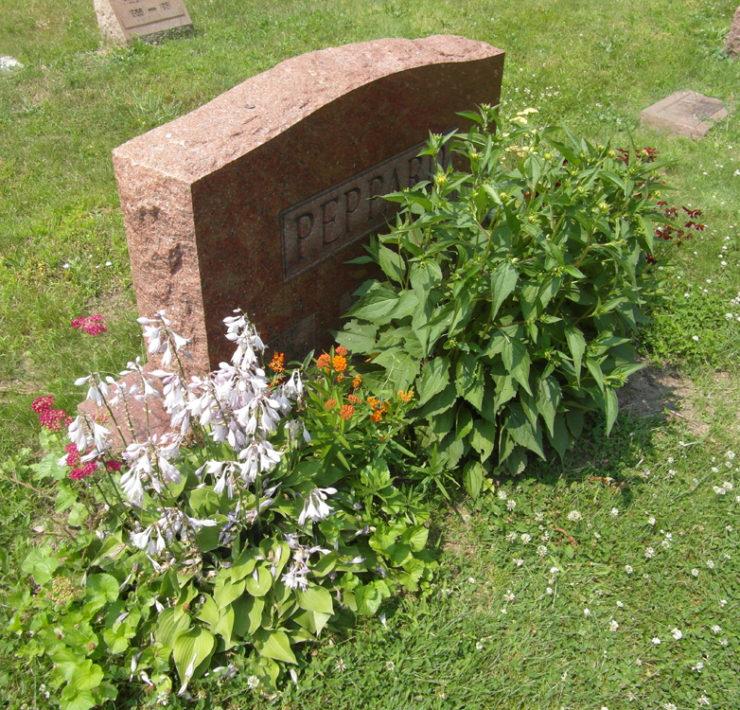 Het graf van A-team leider George Peppard
