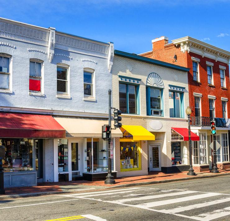 De wijk Georgetown in Washington DC