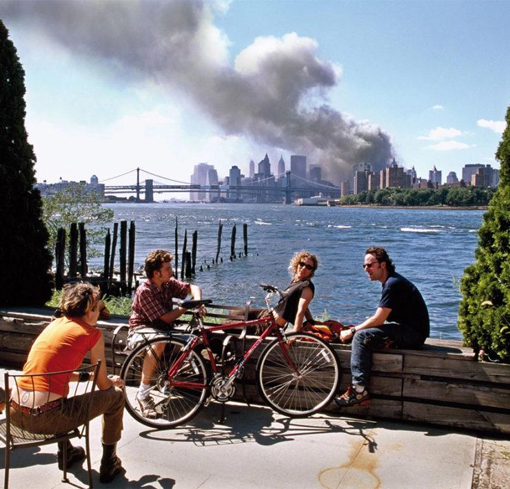 Bizarre foto van 9/11 door fotograaf Hoepker
