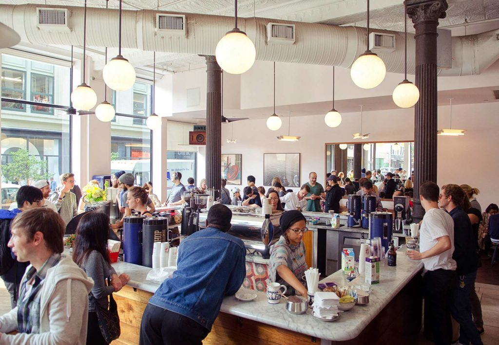 Koffiebar La Colombe in NoHo New York